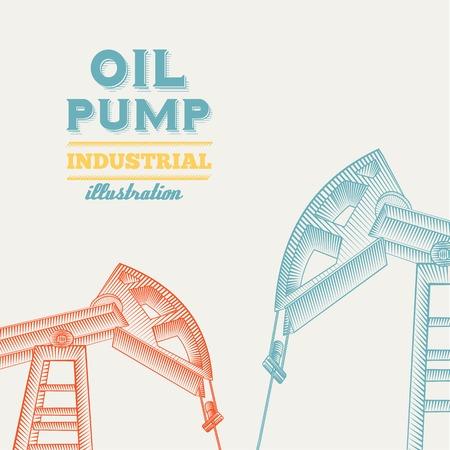 oil derrick: Oil pump jack silhouette design