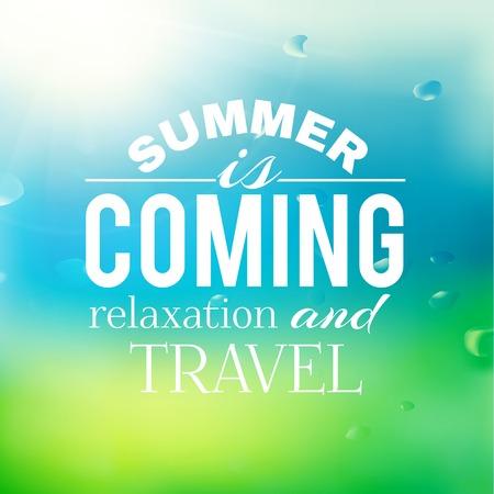summer background: Summer background with text.  Vector illustration. Illustration