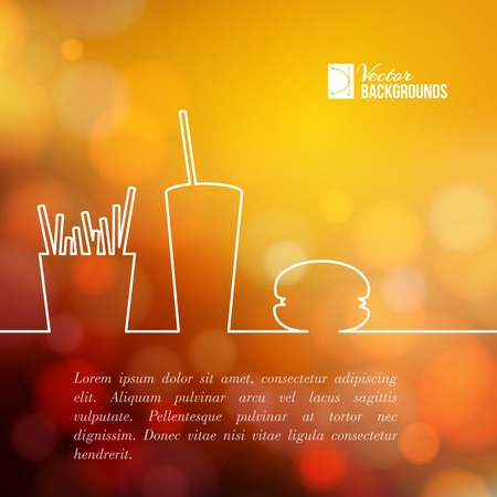 Diseño de la comida rápida. Ilustración del vector. Ilustración de vector