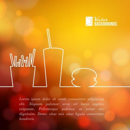 Fast food design. Vector illustratie. Vector Illustratie