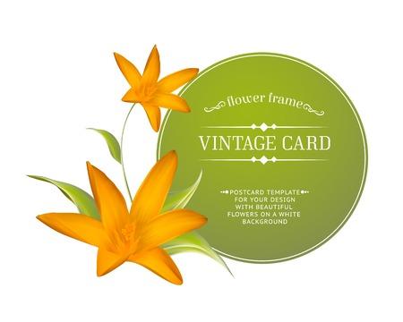 Crocus spring flowers bouquet for your card design. Vector illustration.