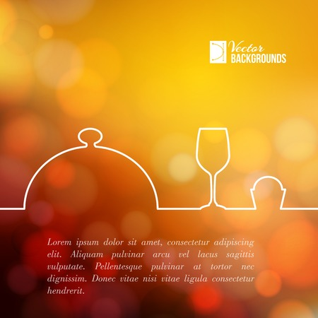 food restaurant: Menu food design. Vector illustration.