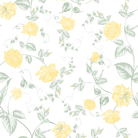 yellow roses: Seamless texture of pastel yellow  roses for textiles