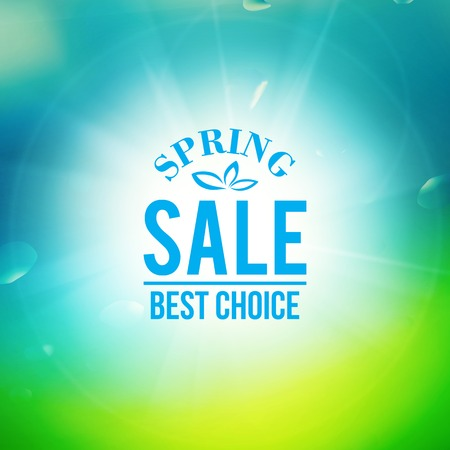 Spring sale background.  Vector illustration.