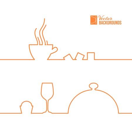 Food and drink line design. Vector illustration. Vector