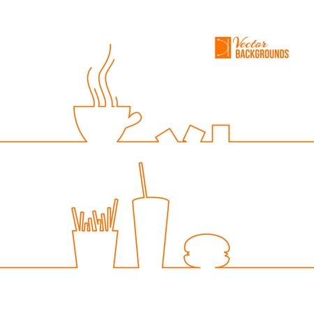 coke: Fast food design. Vector illustration. Illustration