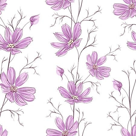 Buttercup seamless pattern. Vector illustration.