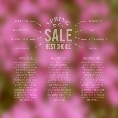 selling house: Spring sale, best choice lettering. Vector illustration.