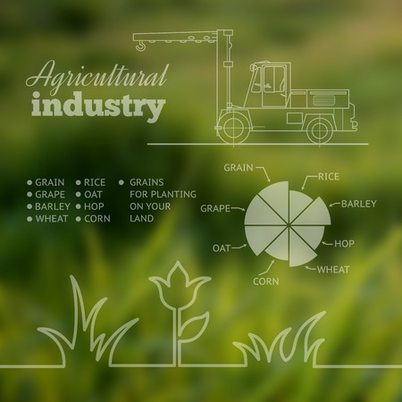old farmer: Agricultural industry infographic design. Vector illustration.