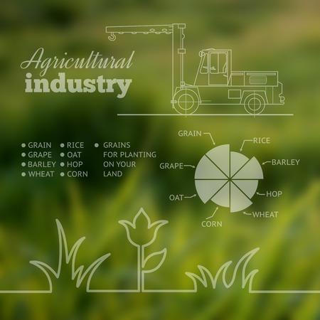 old farmer: Agricultural industry infographic design. Vector illustration.