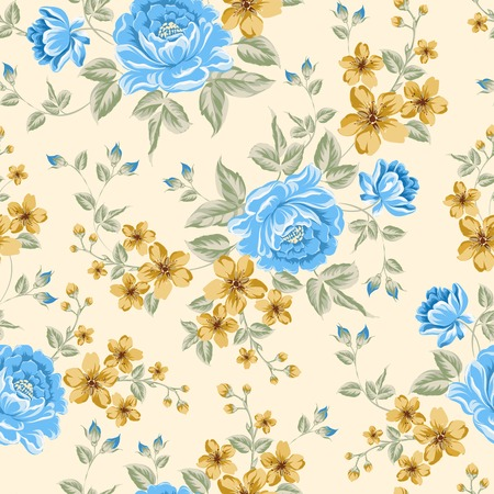 Luxurious color peony seamless pattern. Vector illistration. Vector