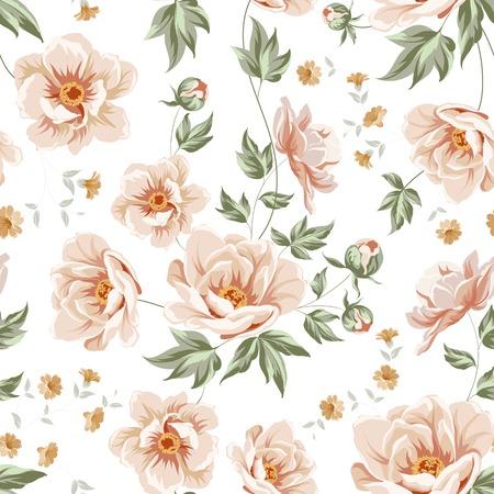 Flower samless pattern for your wallpaper design. Vector illustration.