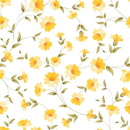 sateen: Elegant flowers fabric, seampless pattern. Vector illustration. Illustration