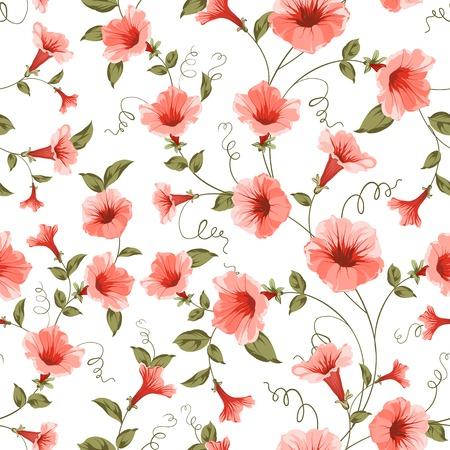 bindweed: Bindweed , floral background, seamless pattern. Vector illustration.