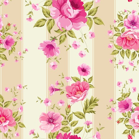 Roses, floral wallpaper, seamless pattern. Vector illustration. Vector
