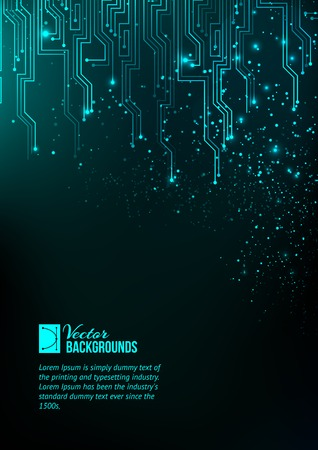 Abstract blue lights background. Vector illustration, contains transparencies, gradients and effects. Vector