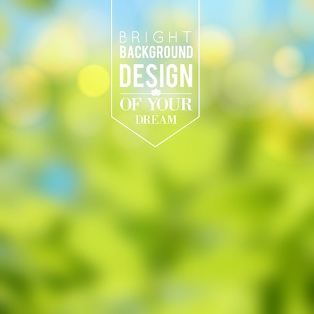 green light: Nature color background. Vector illustration.