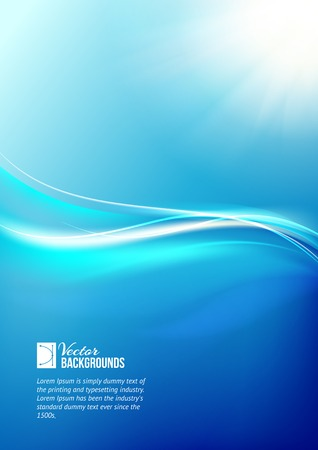light trails: Abstract blue background. Vector illustration.