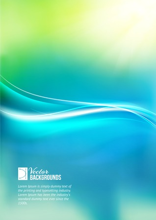 greenness: Shiny wave abstract background. Vector illustration. Illustration