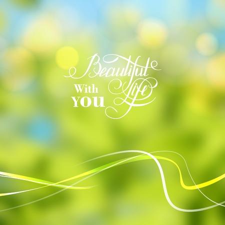 sun flower: Nature color background. Vector illustration.