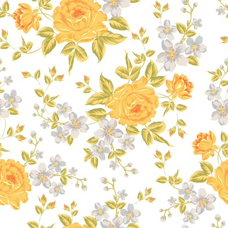 color swatches: Luxurious color peony seamless pattern. Vector illistration.