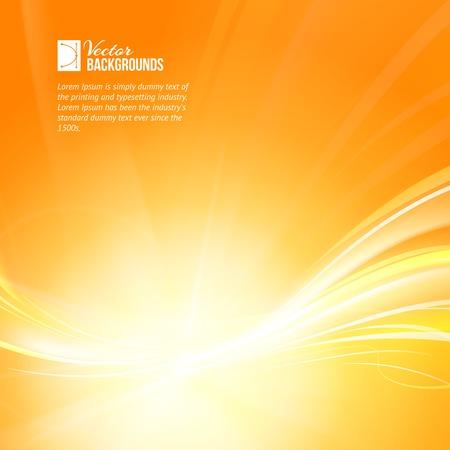 orange swirl: Beautiful summer background. Vector illustration.
