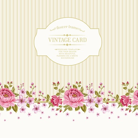 Luxurious color peony pattern. Vector illistration. Vector