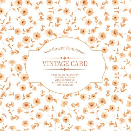 Vintage card design for your invitation cards. Vector illustration. Vector