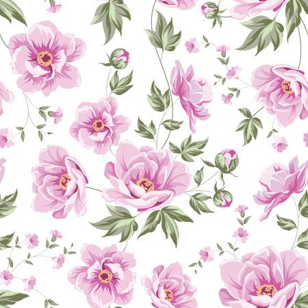 Floral tile pattern for vintage design. Vector illustration. Illustration