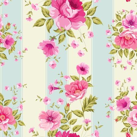 Roses, floral wallpaper, seamless pattern. Vector illustration. Vector