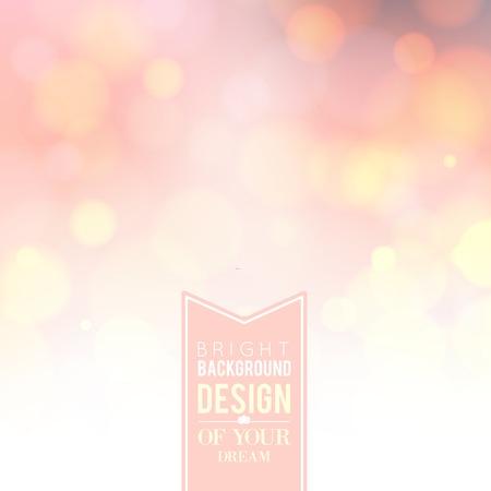 Spa lettering over pink bokeh background. Vector illustration. Ilustrace