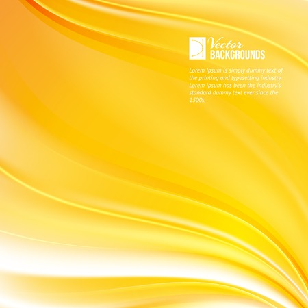blustery: Abstract orange wind, orange background. Vector illustration.