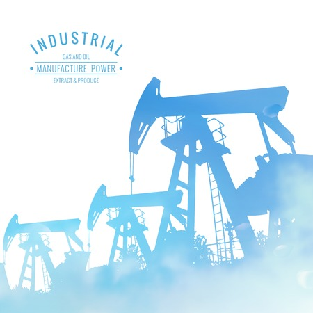 industrial machine: Oil pump industrial machine for petroleum over white background