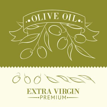 cruet: Vintage olive oil label