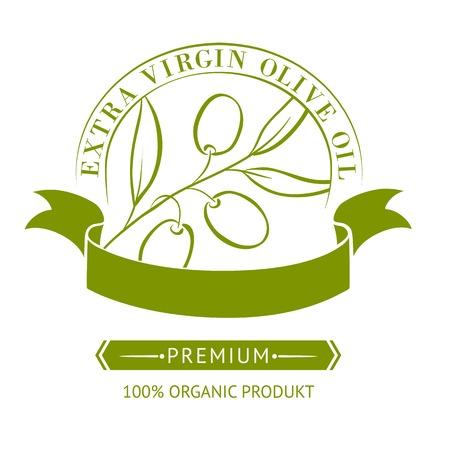 Vintage olive oil label for your design  Vector illustration  Vector