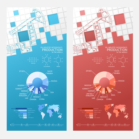 industrial decor: Oil infographic design with mosaic tile card  Vector illustration