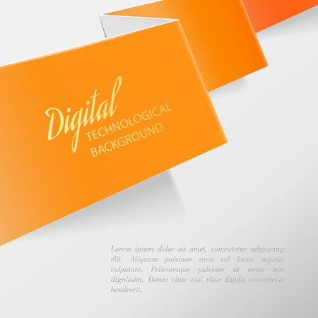 Color sheet of paper with folds and text for your design  Vector illustration