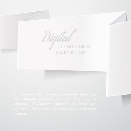 z fold: White folded paper isolated on white background  Vector illustration Illustration