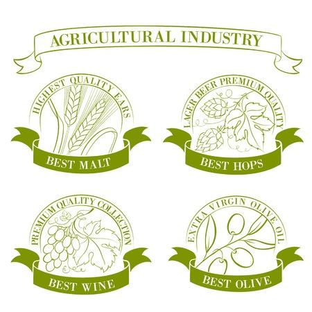 Vintage set of emblems and labels  Vector illustration  Vector