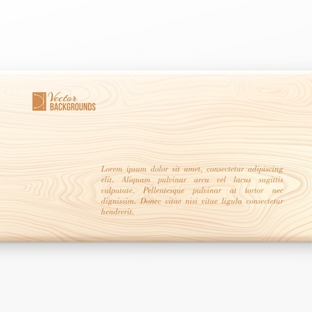 plywood texture: Wooden board on white background  Vector illustration