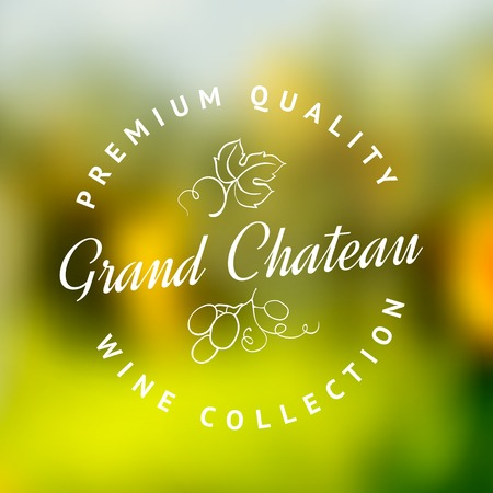 gracious: Logo of the famous winery chateau collection  Vector illustration