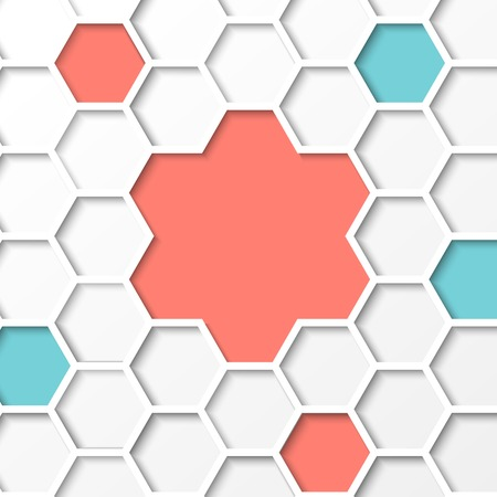 hexahedral: Abstract hexagon background  Vector illustration