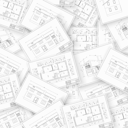 residential building insurance: Collage made with architecture and construction related images  Vector illustration