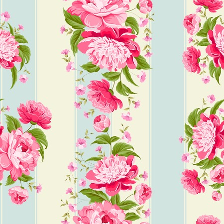 vintage roses: Luxurious flower wallapaper in wintage style  Vector illustration