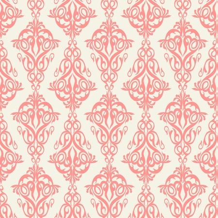 Damask wallpaper, seamless pattern  Vector illustration  Vector