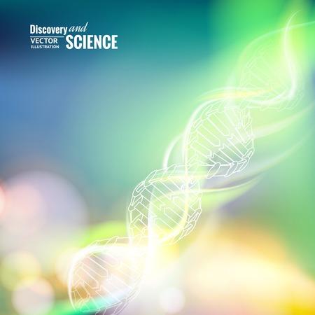 DNA의 과학 개념 이미지입니다. 벡터 일러스트 레이 션.