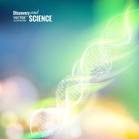 Science concept image of DNA. Vector illustration.