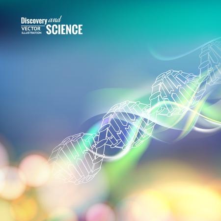 cromosoma: Imagen del concepto de Ciencia de ADN. Ilustración del vector.