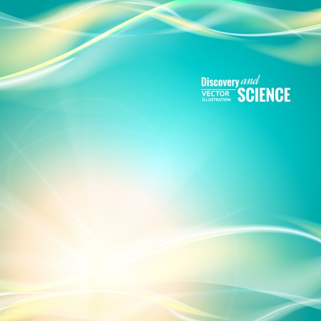 science background: Abstract blue lights for science background. Vector illustration Illustration