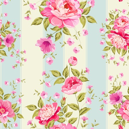 vintage wallpaper: Luxurious flower wallapaper in wintage style. Vector illustration.